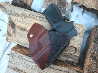 In Stock: SIG P320 Compact/Carry Condor OWB Holster | Brown