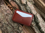 In Stock: Wren Classic 3 Card Case Wallet / Medium Brown