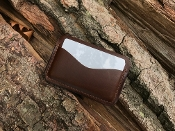 In Stock: Wren Classic 3 Card Case Wallet / Dark Brown