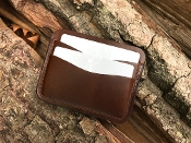 In Stock: Thrush 5 Slot Card Wallet / Dark Brown