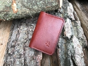 In Stock: Sparrow Folded Card Wallet / Medium Brown